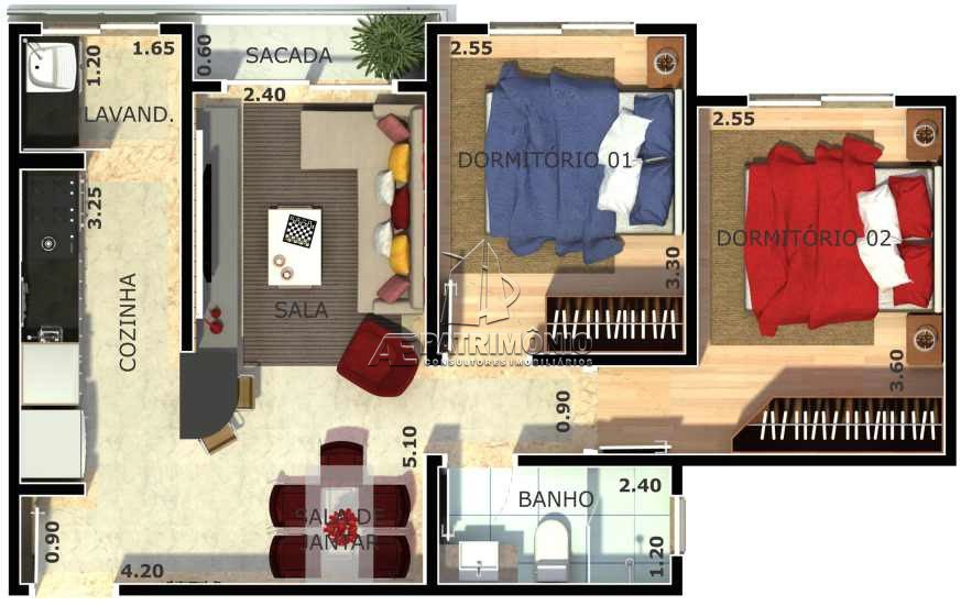 Apartamentos de 2 dormitórios à venda em Cidade Jardim, Sorocaba - SP