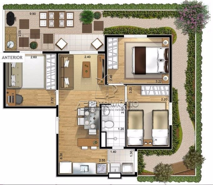 Apartamentos de 3 dormitórios à venda em Maria Eugenia, Sorocaba - SP